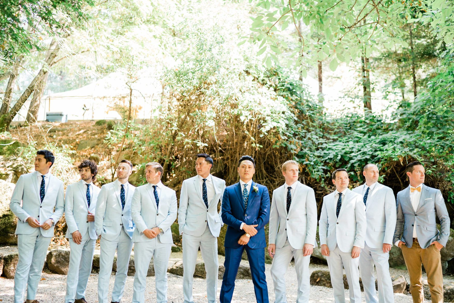 jon chu wedding pictures with groomsmen