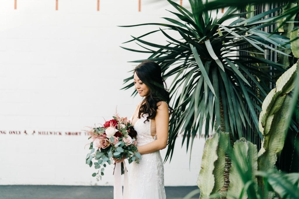 bride photos at millwick wedding los angeles